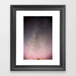 The Milky Way Arm Framed Art Print