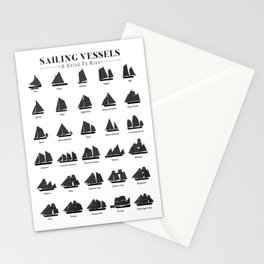 Sailing Vessel Types And Rigs Stationery Cards