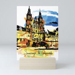santiago  camino Mini Art Print