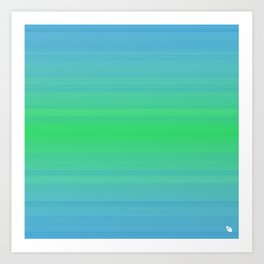 blue green sea  Art Print