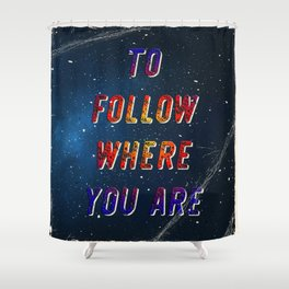 I'm wishing on a Star #2 - 50 Years Moonlanding Shower Curtain