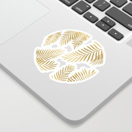 Gold palm leaves Sticker