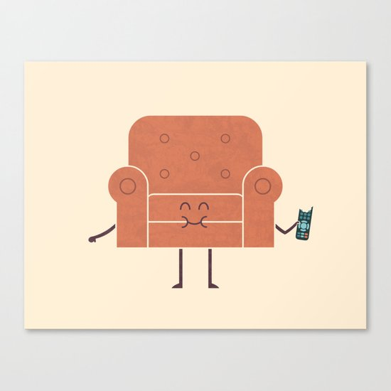 Couch Snack Canvas Print