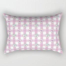 FRENCHIE PLAID Rectangular Pillow