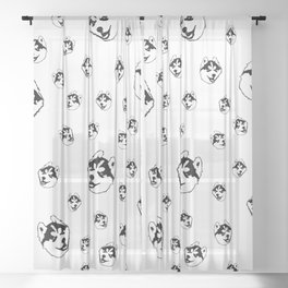 BEAUTIDFUL GIFTS FOR THE SIBERIAN HUSKY DOG LOVER FROM MONOFACES FOR YOU IN 2021 Sheer Curtain