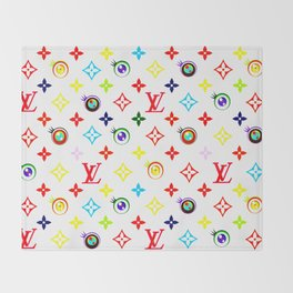 Takashi Murakami LV Collaboration Vuitton Throw Blanket