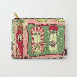 Sea Home of the Hipster Mer-Couple Carry-All Pouch