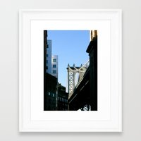 cosima Framed Art Prints featuring MB/BKLYN by Cosima Higham