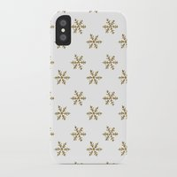 golden girls iPhone & iPod Cases featuring Golden snowflakes by Better HOME