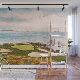 Pebble Beach Golf Course Signature Hole 7 Wall Mural