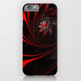 Flame Red Abstract Whirl iPhone Case