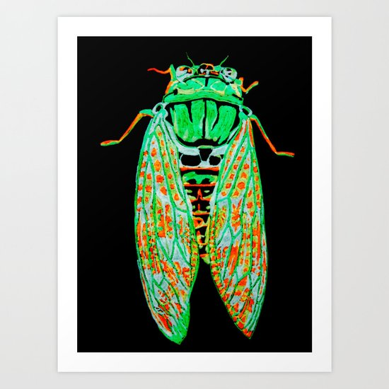 Cicada (Inverted) Art Print