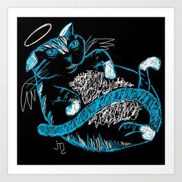 Fat Cat (Angel) Art Print