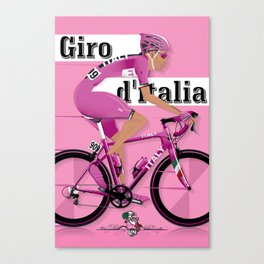 GIRO D'ITALIA Grand Cycling Tour of Italy Canvas Print