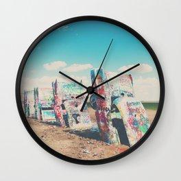 Route 66 graffiti print  Wall Clock