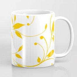 FLOWERY VINES   white yellow Coffee Mug