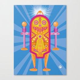 Pinball Bot Canvas Print