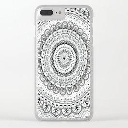 Mandala Love Clear iPhone Case