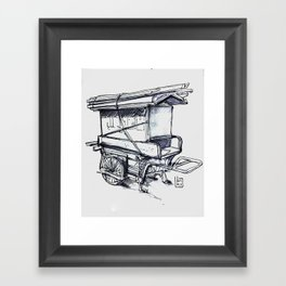 japan wood cart Framed Art Print