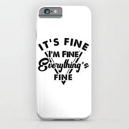 Sarcastic gift, statement shirt, anti social, introvert shirt, introvert gift, gym shirt iPhone Case