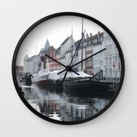 denmark Wall Clocks featuring Denmark by Kayleigh Rappaport