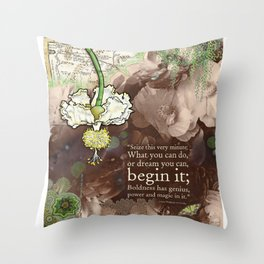 Begin it... Throw Pillow