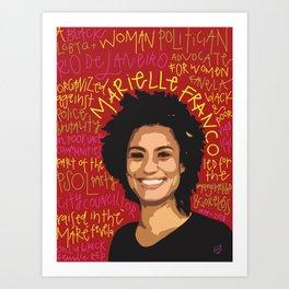 Marielle Franco. Art Print