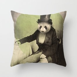 Proper Panda Throw Pillow