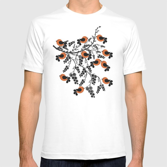 orange birds T-shirt