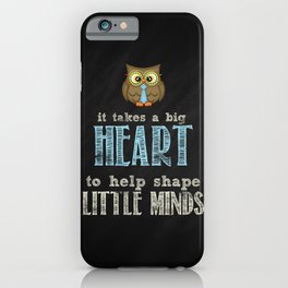 Big heart blue iPhone Case