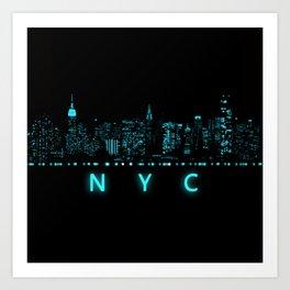 Digital Cityscape: New York City, New York Art Print