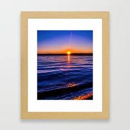 Just a blue moment Framed Art Print