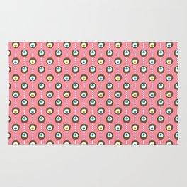 Pink Flamingo Dots Rug