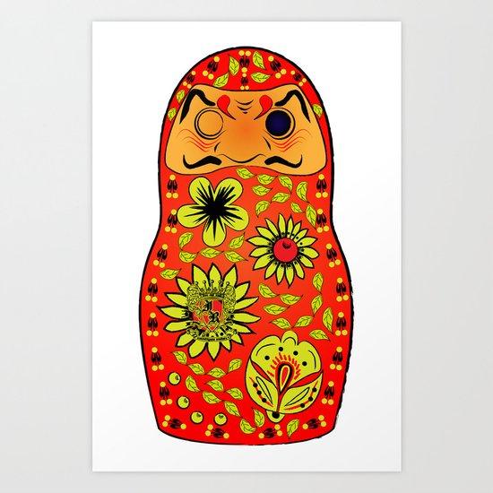 Matryoshka Daruma Art Print