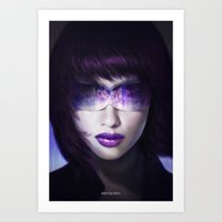 ghost in the shell Art Prints featuring Ghost in the shell by ImmarArt