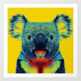 Koala Yellow Animal Art Print