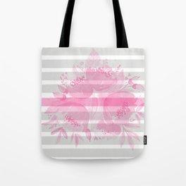 The Pink Among The Grey Tote Bag