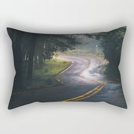 GREY - CONCRETE - ROAD - DAYLIGHT - JUNGLE - NATURE - PHOTOGRAPHY Rectangular Pillow
