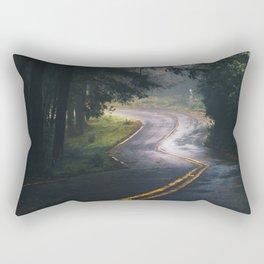 GREY - CONCRETE - ROAD - DAYLIGHT - JUNGLE - NATURE - PHOTOGRAPHY Rectangular Pillow
