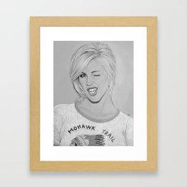Brody Dalle Framed Art Print
