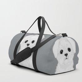 bw maltese Duffle Bag