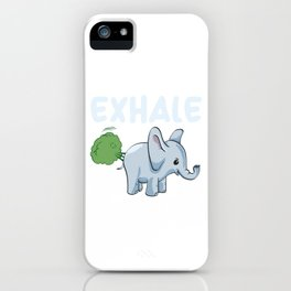 Funny Elephant Exhale iPhone Case