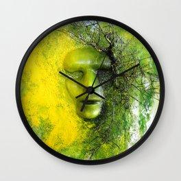 Green Mask Wall Clock