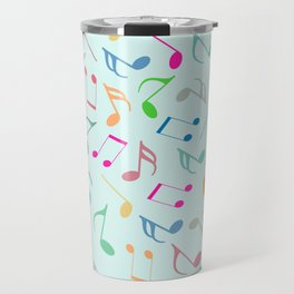 Music Colorful Notes Travel Mug