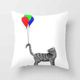 High-Tailing It Throw Pillow