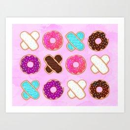 XOXO Donuts Art Print