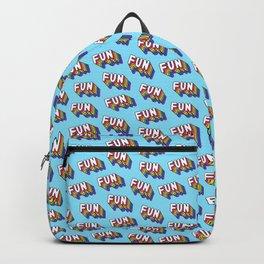 FUN pattern. Blue. Backpack