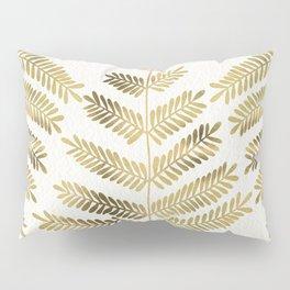 Gold Leaflets Pillow Sham