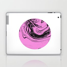 Tombo - spilled ink abstract pink planet circle outer space japanese watercolor marble painting Laptop & iPad Skin