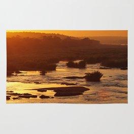Golden hour in Africa Rug